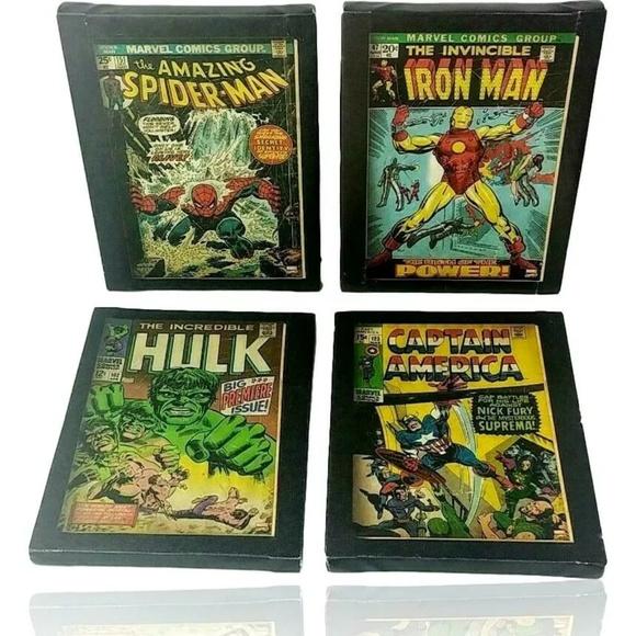 4 Marvel Heroes Canvas Wall Decor Artissimo